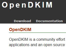 OpenDKIM公式